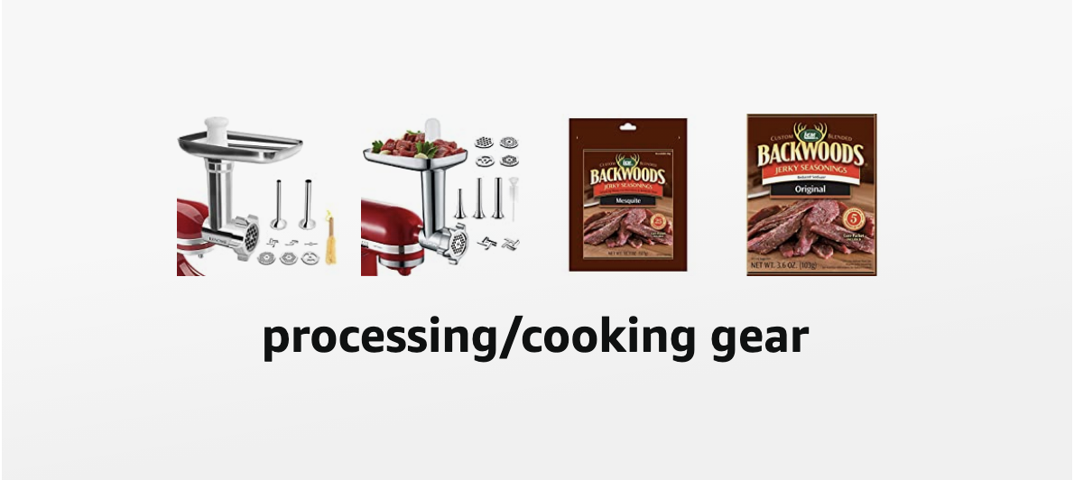 processing and cooking gear